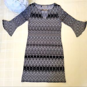 NWOT Jennifer Lopez Dress - Black & White Size XS